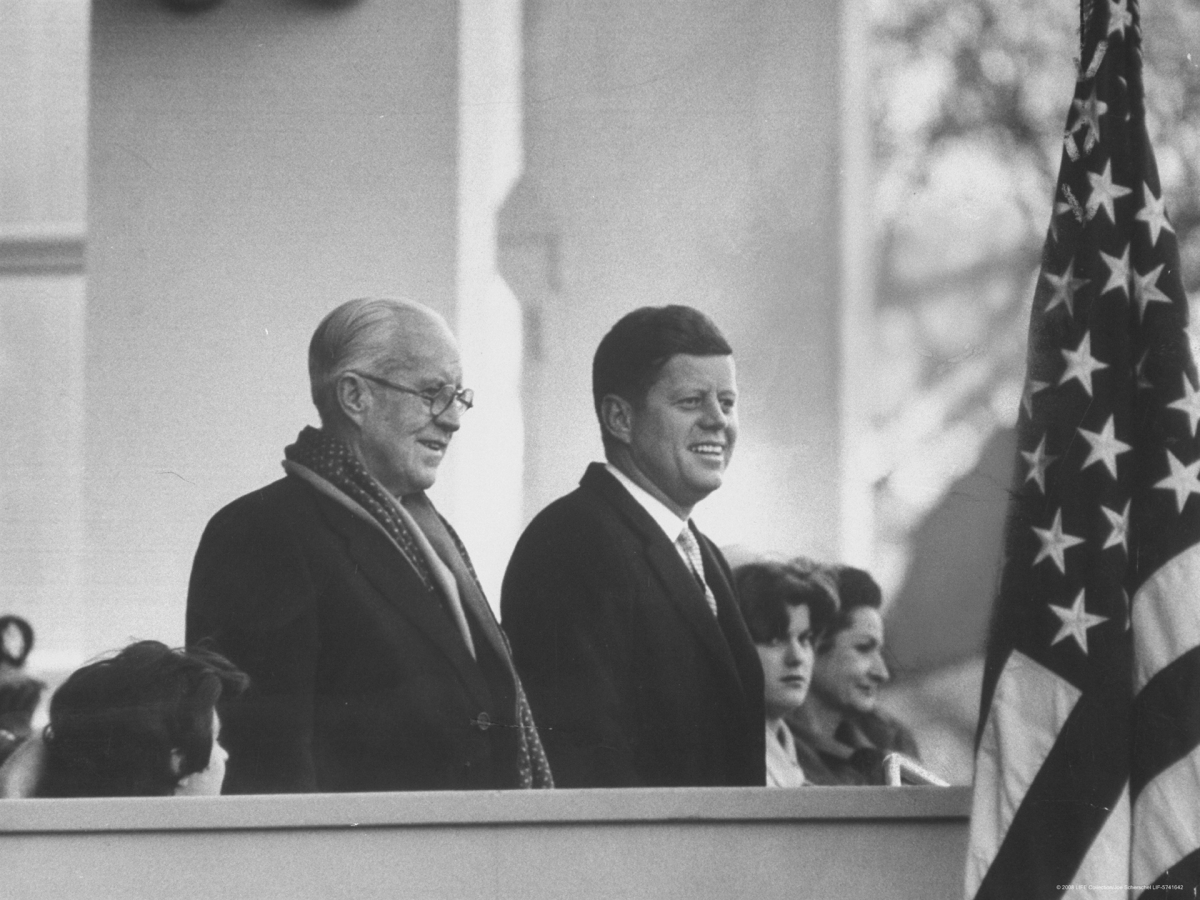 Joe scherschel president john f kennedy stands at his inauguration ceremonies with his father joseph p kennedy.jpg?ixlib=rails 1.1