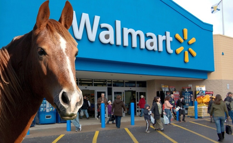Walmart sent a guy a cease and desist letter for photoshopping a horse in front of a walmart 632 body image 1425931545.jpg?ixlib=rails 2.1