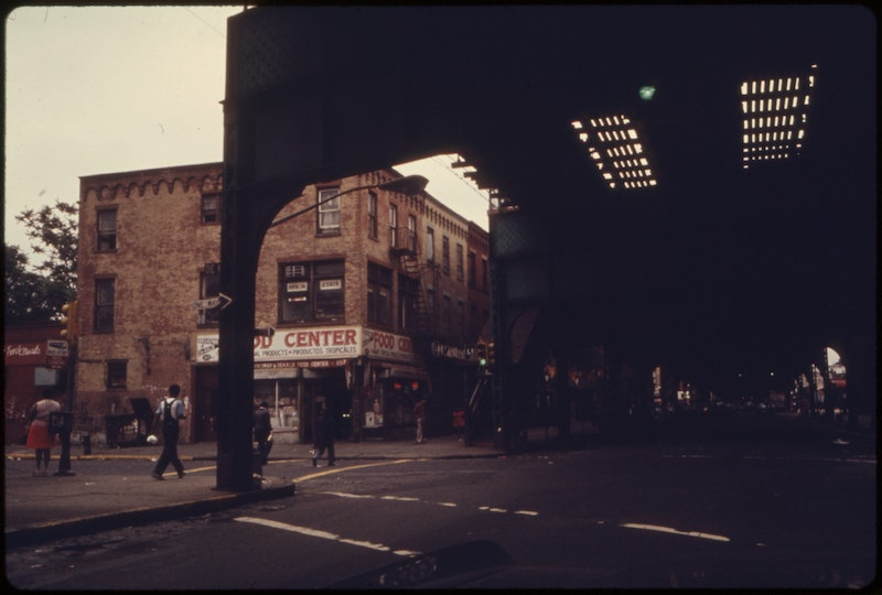 View from under elevated train tracks at bushwick avenue in brooklyn  new york city. the inner city today is an...   nara   555890.jpg?ixlib=rails 2.1