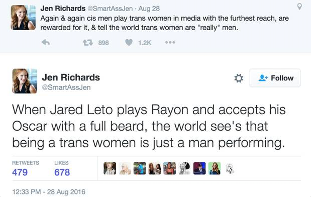 Hollywood: Stop Casting Cis Men in Trans Roles | www