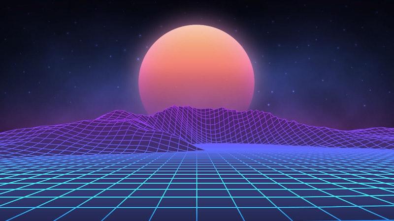 Futuristic retro landscape digital sun setting desert 80s 696426469 internet archive.jpg?ixlib=rails 2.1