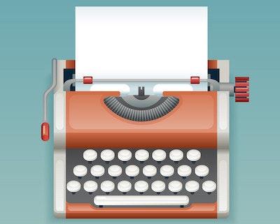 Retro vintage manual typewriter with blank paper vector 14764759.jpg?ixlib=rails 2.1