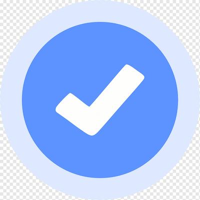 Png transparent blue and white check logo facebook social media verified badge logo vanity url blue checkmark blue angle text.png?ixlib=rails 2.1