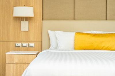 Pillow bed with blanket decoration interior 74190 11502.jpg?ixlib=rails 2.1